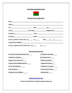 NAIP MEMBERSHIP APPLICATION
