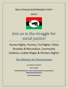 NAIP Social Justice poster