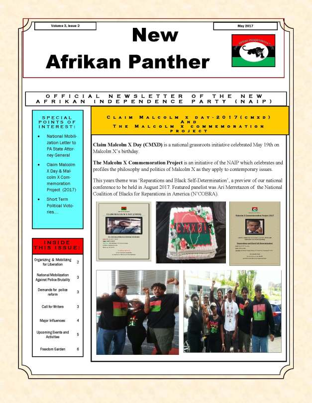 new afrikan panther, volume 3, issue 2, 05-2017 (COVER PAGE)