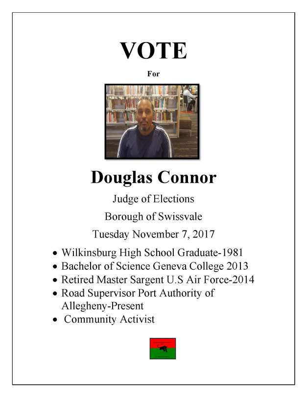 VOTE Doug campaign flyer