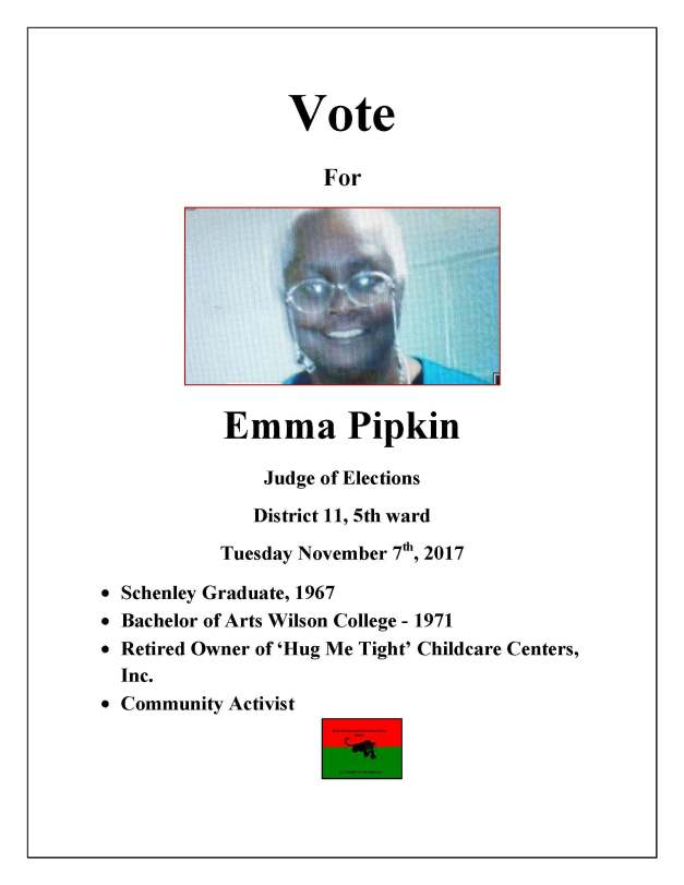 VOTE EMMA campaign flyer