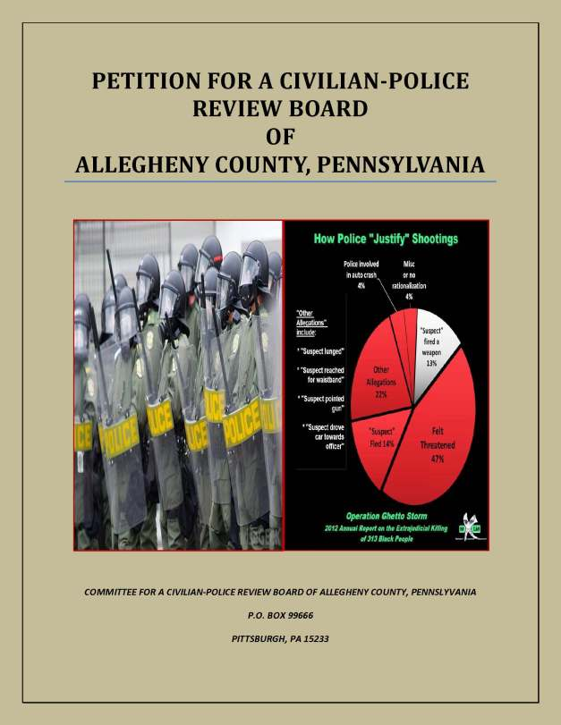 COVER-Petition for a Civilian-Police Review Board of Allegheny County